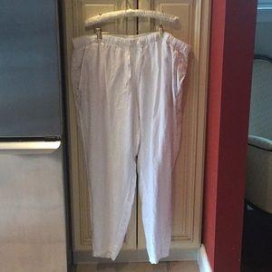 Women's J.Jill white Linen Pant 2x never worn